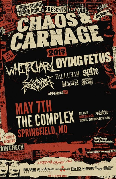 Chaos and Carnage Tour 2019